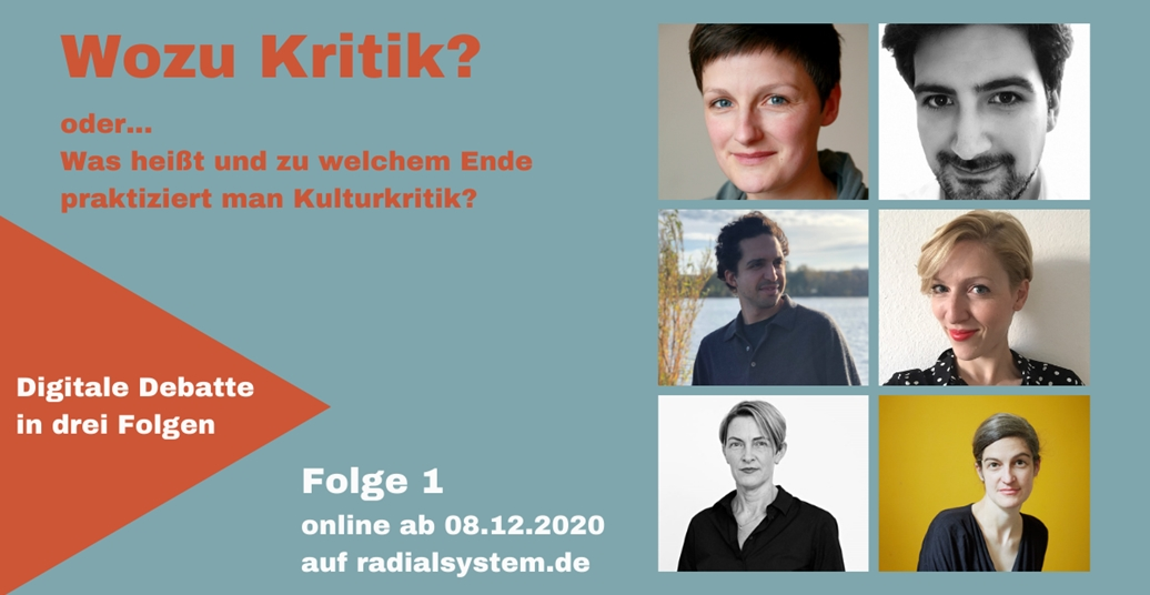 """Wozu Kritik?"" – Digitale Debatte, Panel I"