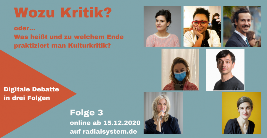 "The costs of writing. ""Wozu Kritik?"" – Digitale Debatte, Panel III"